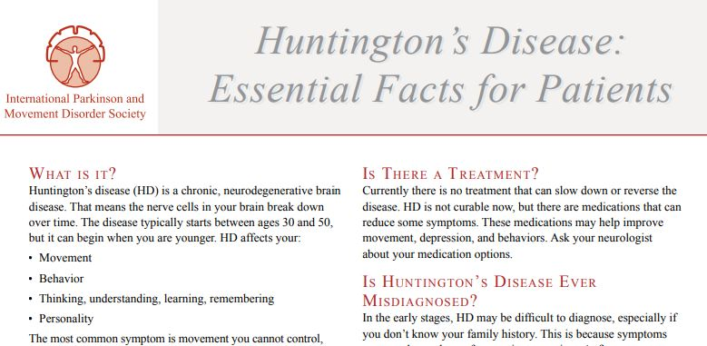 Mds On Twitter Currently There Is No Treatment That Can Slow Down Or Reverse Huntingtons Disease Hd Hd Is Not Curable Now But There Are Medications That Can Reduce Some Symptoms Https T Co Yx8lkkocnj