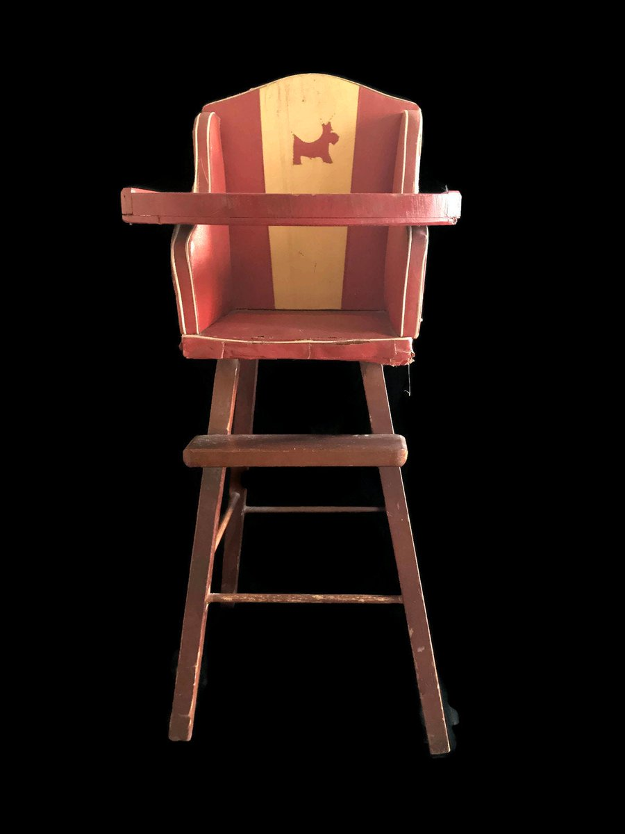 Merrilyverilyvintage On Twitter Antique Doll High Chair 1930s