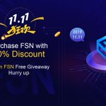"Image for the Tweet beginning: ""Purchase FSN @FUSIONProtocol with 50% Discount""+Register"