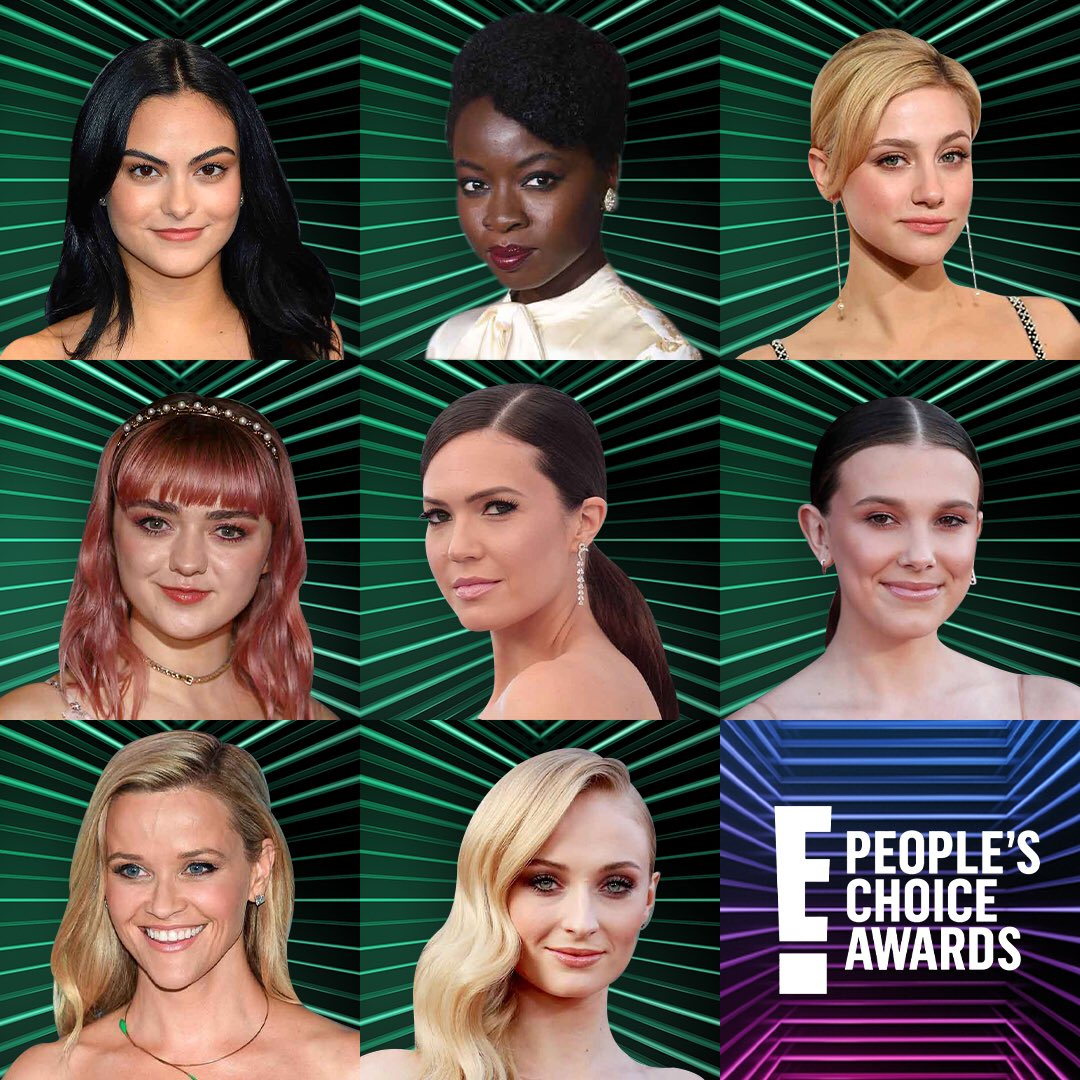 Drop a GIF below featuring the #PCAs nominee youre rooting for! 👇 Find out who wins The Female TV Star of 2019, The Female Movie Star of 2019, The Female Artist of 2019, and The Style Star of 2019 this Sunday 7/6c on E!