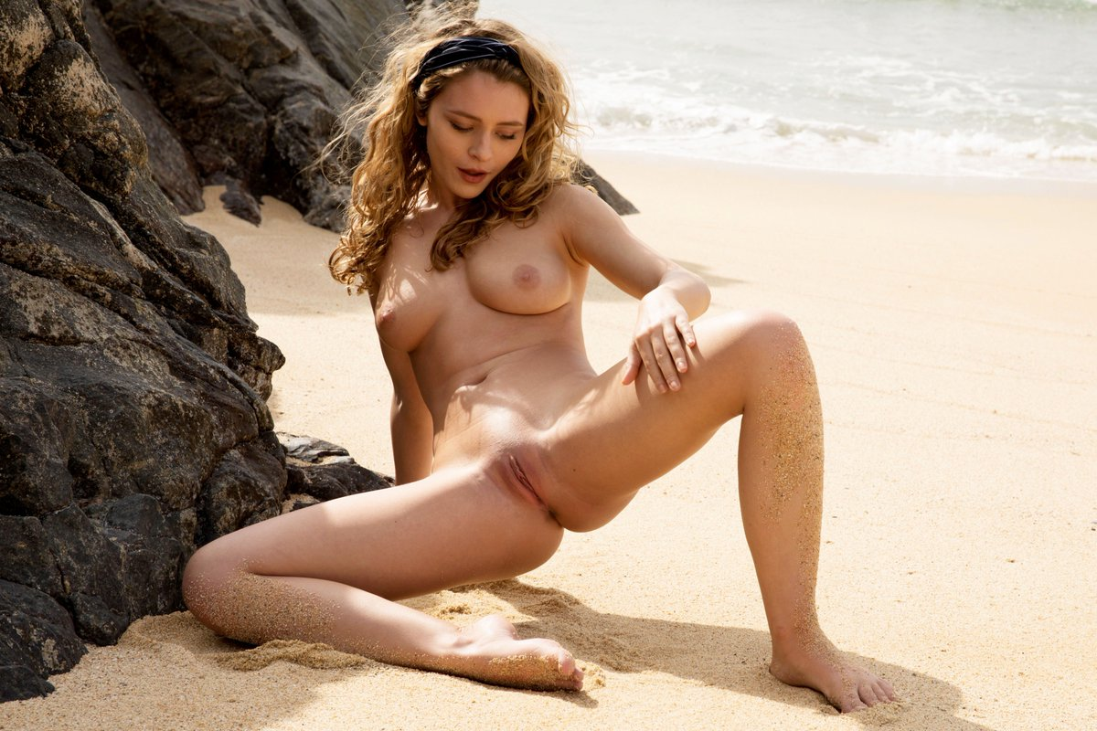 Busty Beauty Naked In The Great Outdoors