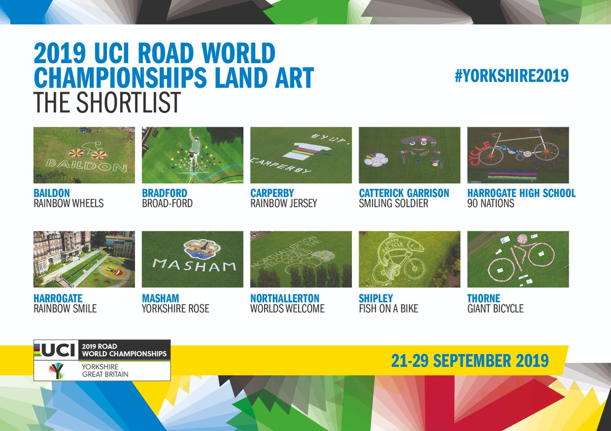 The @Yorkshire2019 Land Art competition closes tomorrow 🎨  Vote for your favourite from these 10 places shortlisted here 👇    #Yorkshire2019