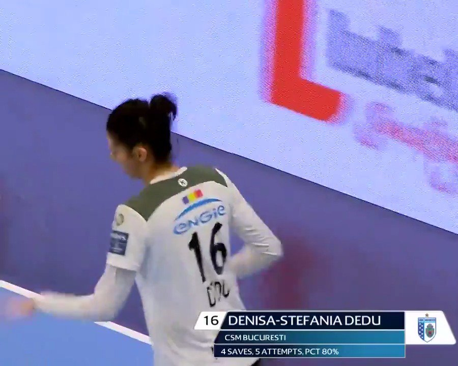 She was already featured in 3 Stars in the #deloehfcl Round 1, and she was again this week.  And thanks to all of you, she deserves her spot again as the best player of the Round! #ehfcl @csm_bucharest
