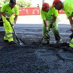 Image for the Tweet beginning: Trabajos de asfaltado y redistribución