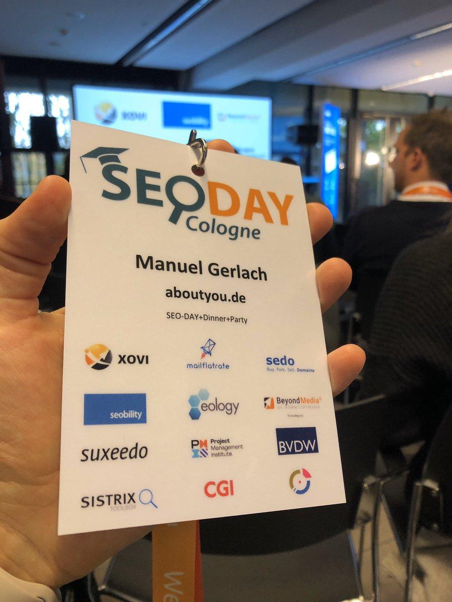 Bin heute auf dem SEO Day in Köln. Jemand von euch für eine Kaffee zu haben? #seoday https://t.co/9QiDVRrVKw