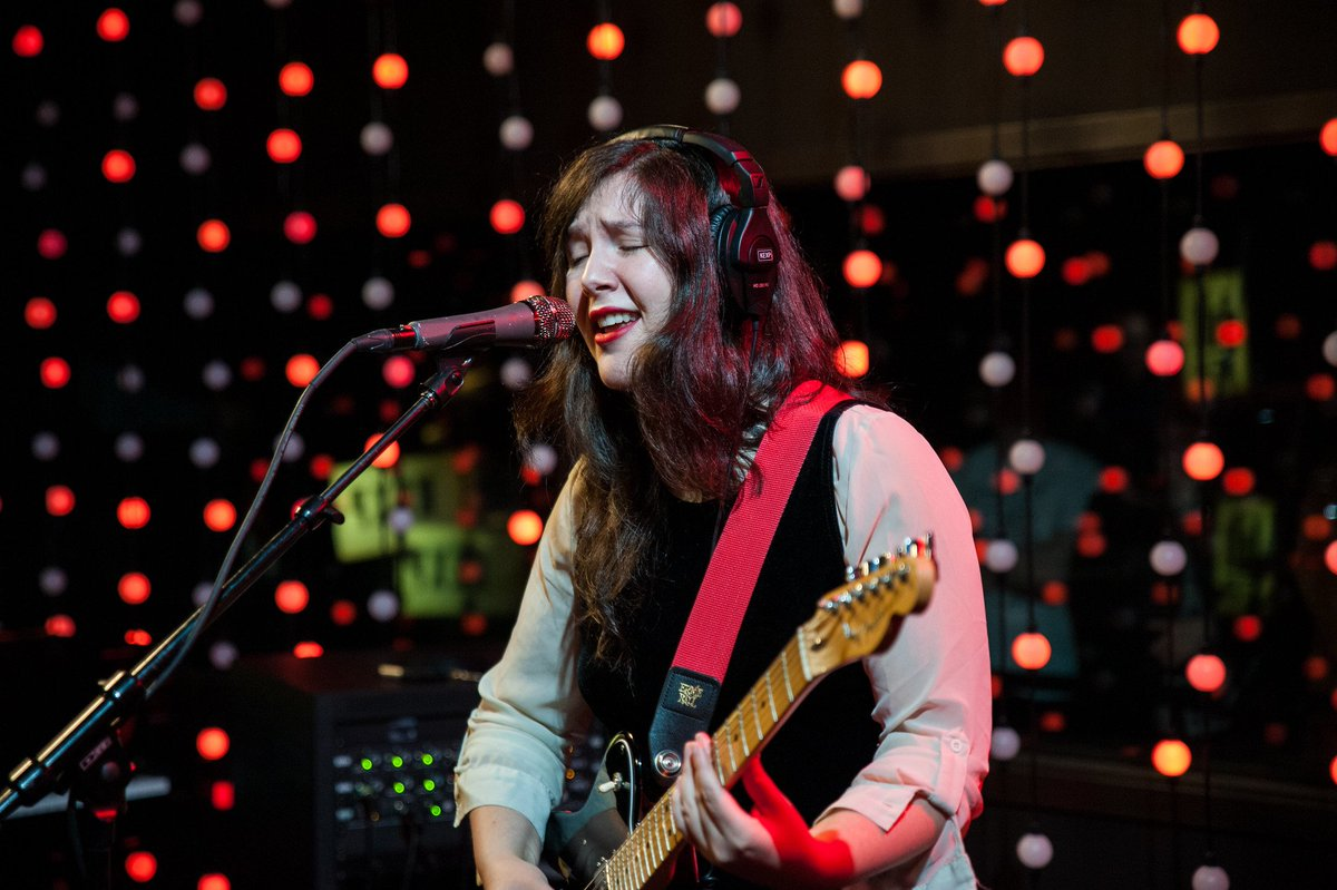 "Today, @lucydacus dropped a brand new song titled ""Fool's Gold"" via @matadorrecords. During her recent visit to KEXP, we recorded her performing it in our studio - read about the single and watch via the KEXP Premiere: http://ow.ly/Mfrr50x4JW7 .  📷: Elizabeth Crook"