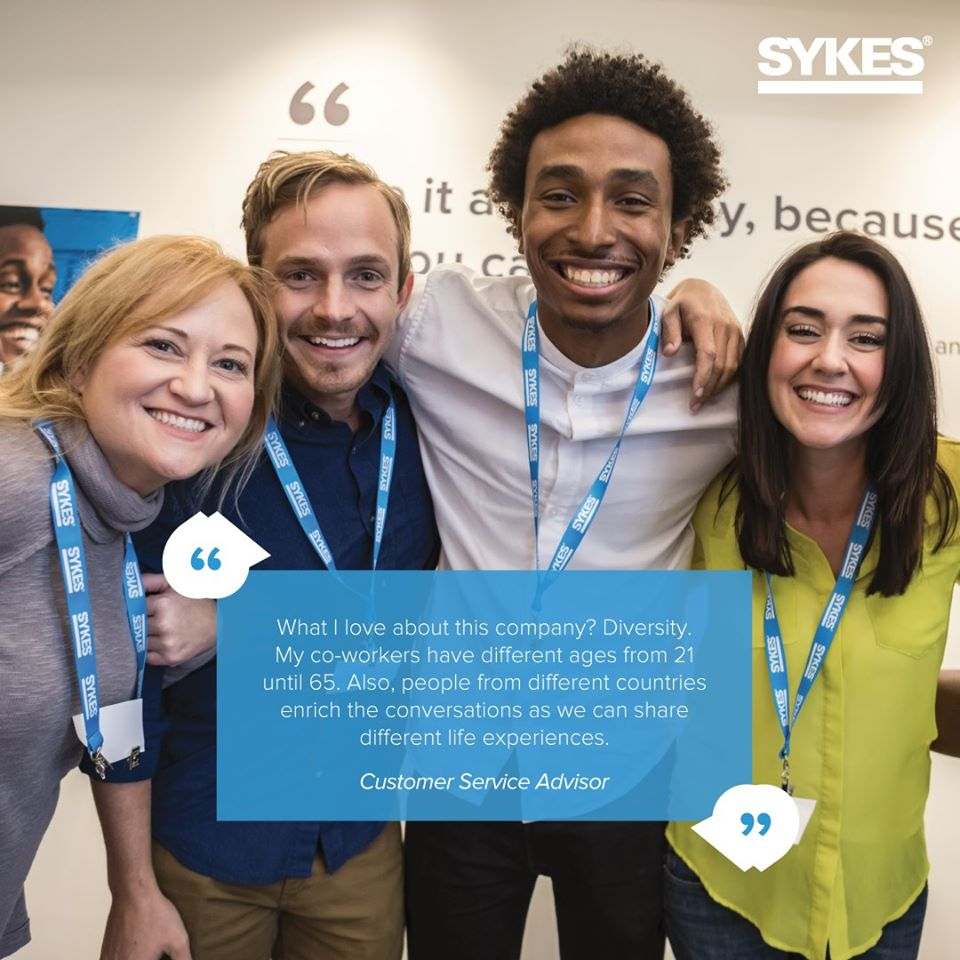 We pride ourselves on the culture of family at SYKES – team members working together to provide caring interactions for our brand partners and their customers every day. #SYKESCulture #WorkLearnGrow #SYKESFamily https://t.co/9HrKYVIZk7