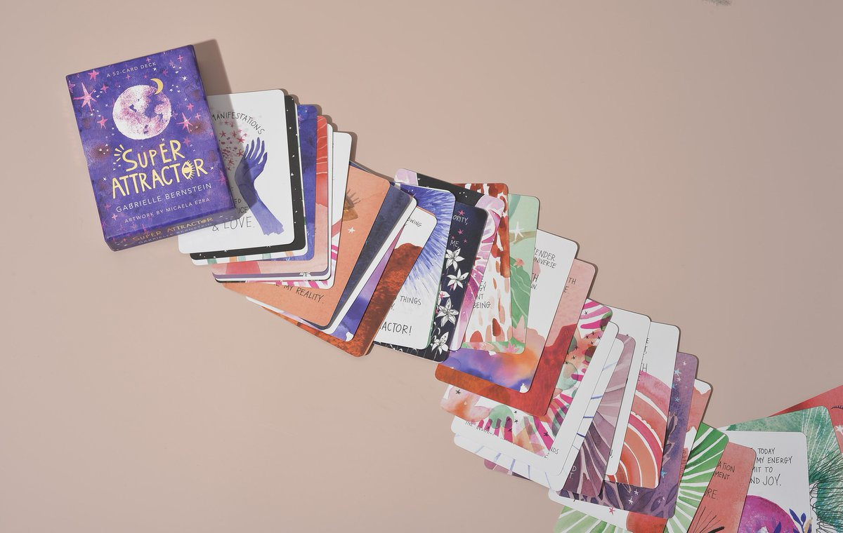 I'm so excited to share that the Super Attractor card deck is out! My best friend Micaela Ezra created beautiful watercolor illustrations to go with mantras from the book. 💜🙌Check it out: http://go.gabbybernstein.com/sa-deck