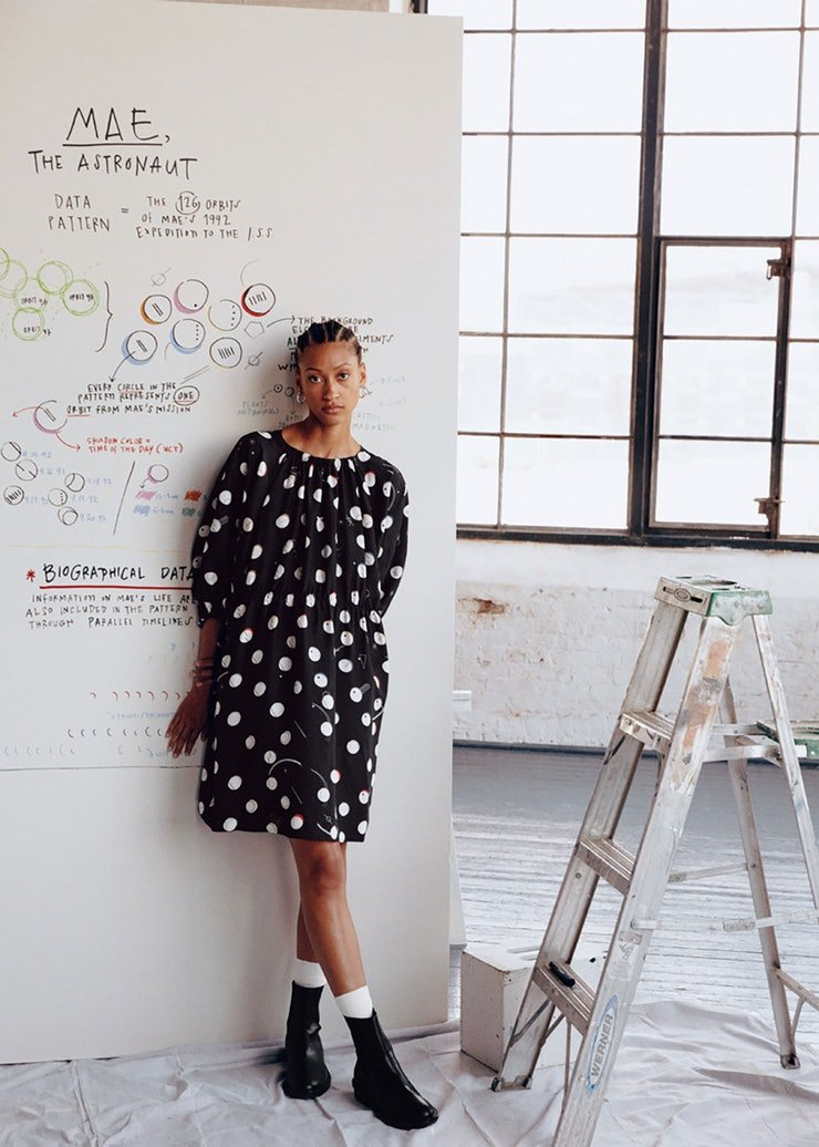 .@giorgialupi collaborates on a data-driven collection for fashion brand #andotherstories, featuring hand-drawn data patterns inspired by the lives of 3 trailblazing women in science https://www.pentagram.com/work/giorgia-lupi-other-stories… pic.twitter.com/toy6Zcr3KU
