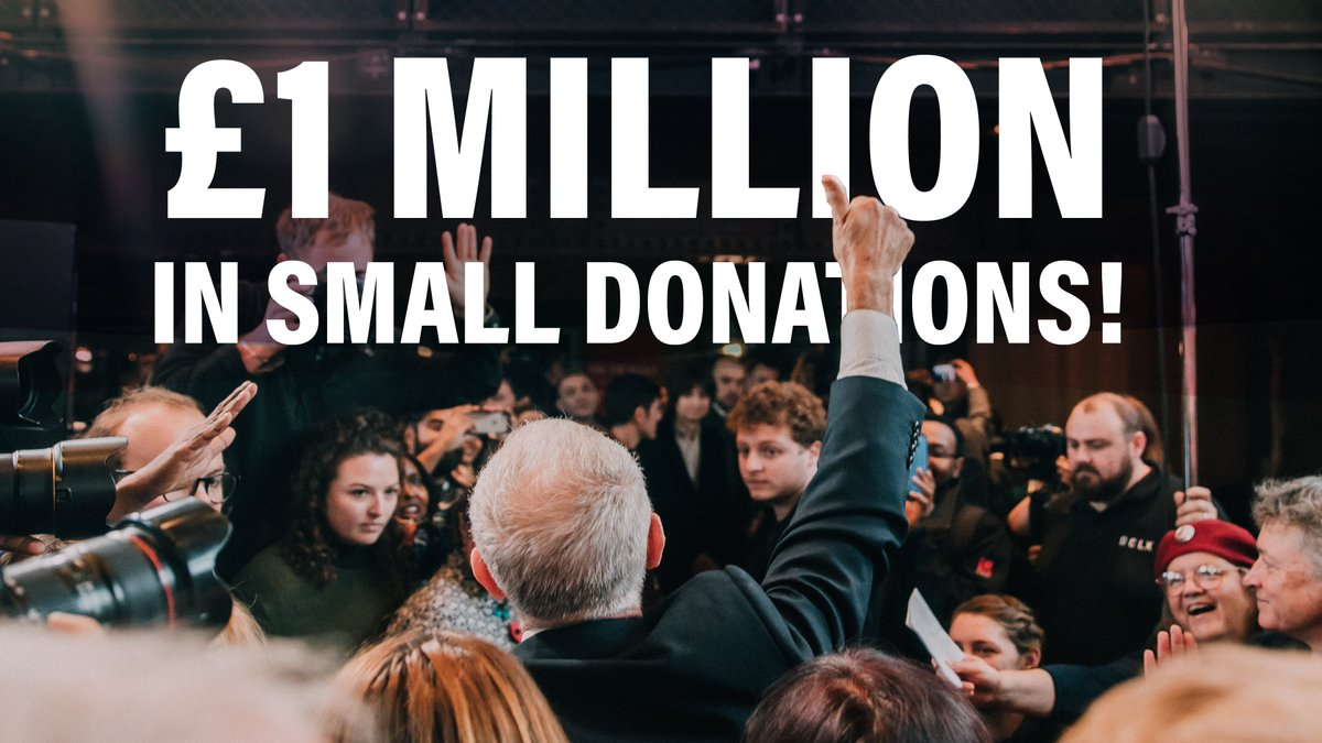 In just 10 days our campaign has raised an incredible £1 million. Our average donation? £26. We can beat the billionaire-backed Conservatives, but we need 𝘆𝗼𝘂𝗿 𝗵𝗲𝗹𝗽 to do it: donation.labour.org.uk/page/contribut…