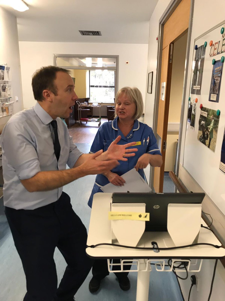 It's always so inspiring to hear the amazing achievements of patients and staff. This was my reaction hearing a patient with a new hip had climbed Kilimanjaro Thank you @GregKnight and the team for the warm welcome
