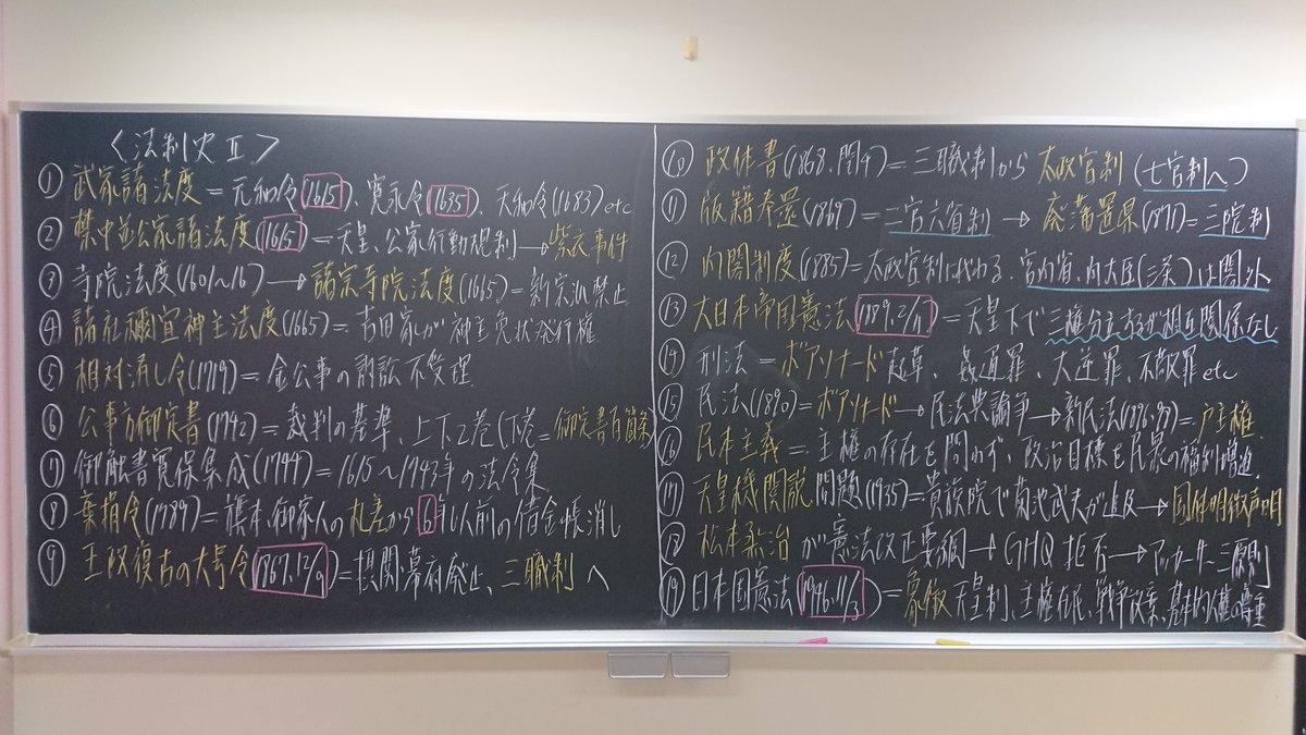 """矢崎聖【歴史マン】日本史講師 on Twitter: """"先週に続き、法制史です ..."""