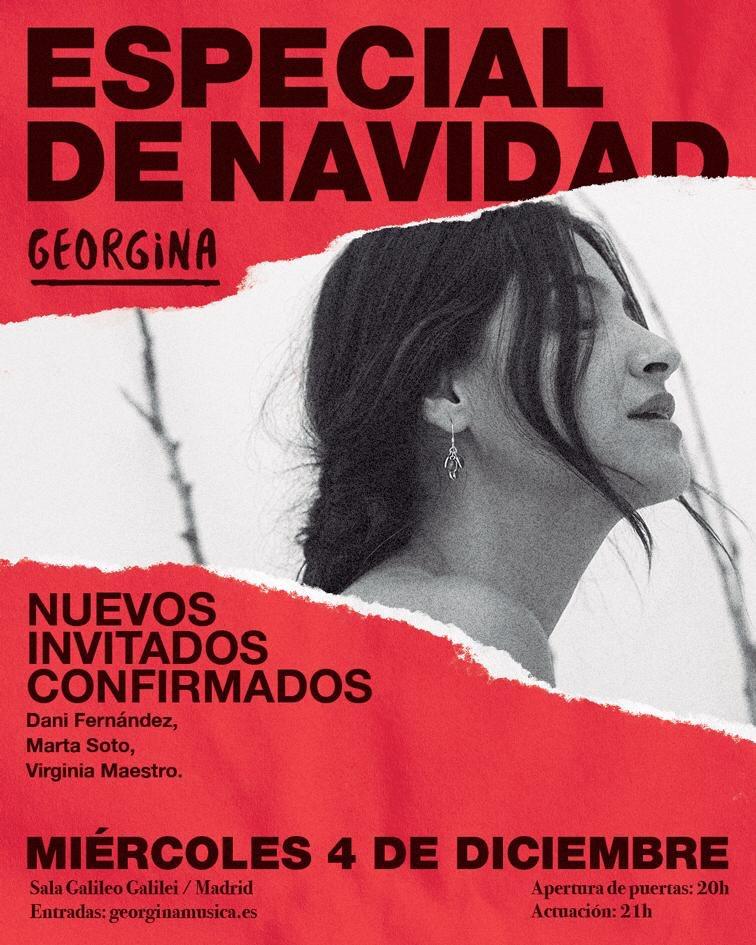 @martasoto @DaniFdez y @virginiamaestro también me acompañarán la noche del 4 de diciembre. 🥰🎄🎶 #EspecialDeNavidad #Quevivalamúsica #Quevivaelamor  Entradas en http://www.georginamusica.es
