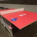 Image for the Tweet beginning: A #corrugated #cardboard #tabletennis table