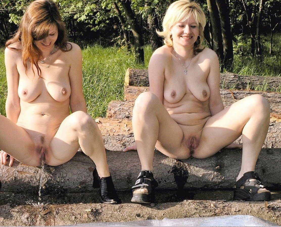 Girls and woman caught pissing