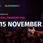 Image for the Tweet beginning: 🔜 Blockshow Asia 2019 starts