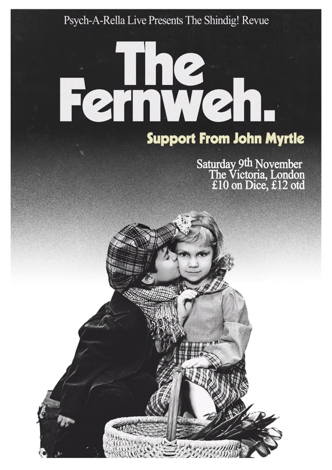 This Saturday, come down to The Victoria in Dalston for the next Shindig! Revue night, with magical headliners The Fernweh and support from John Myrtle, as featured in Lodge 49. It's going to be golden! @TheFernwehBand @lodge49 @shindigmagazine @VICTORIADALSTON #SaveLodge49