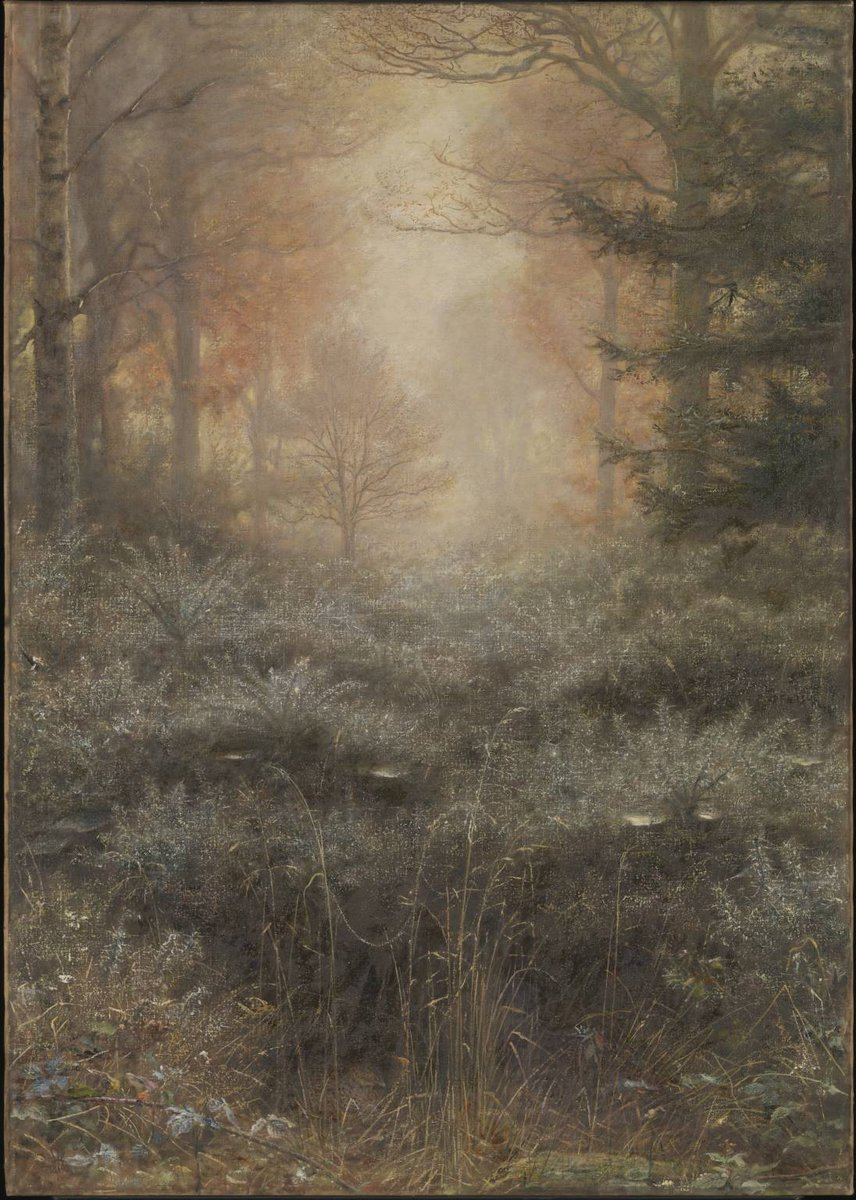 #TateWeather: Its cold but crisp today. ⛅ Were reminded of John Everett Millais's autumnal painting of dew droplets caught by the morning sun – a subject he feared 'might be unpaintable.' bit.ly/2CiCacx