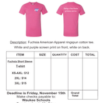 Image for the Tweet beginning: Remember: shirt orders are due