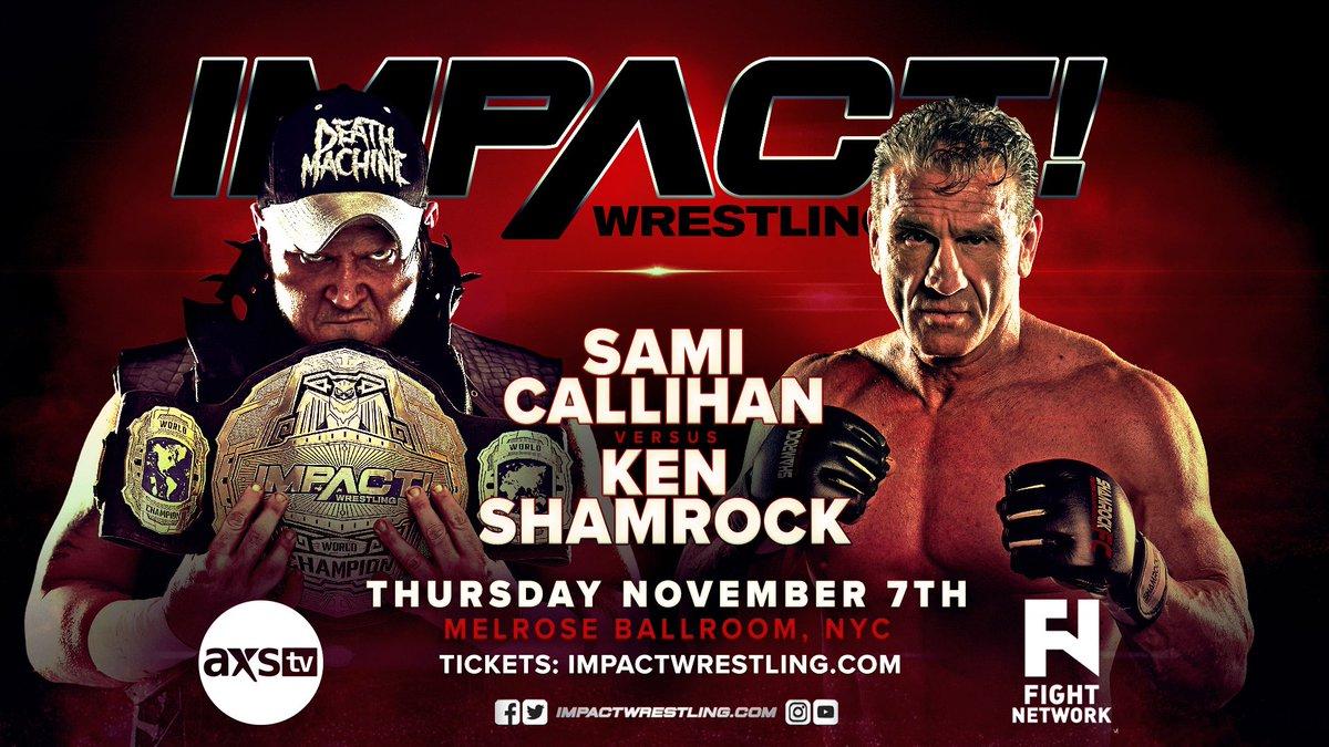 Impact Wrestling Spoilers From NYC (11/7): Ken Shamrock Vs. Sami Callihan, RVD Vs. Rhyno, Brian Cage