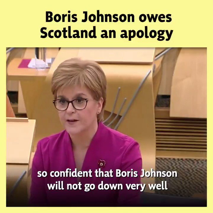 🏴 Boris Johnson is the prime architect of Brexit & the utter shambles it has become. He owes Scotland an apology today, not a fleeting visit. 🗳️ A vote for the SNP in this election, is a vote to escape Brexit & to put Scotlands future in Scotlands hands – not Boris Johnsons.