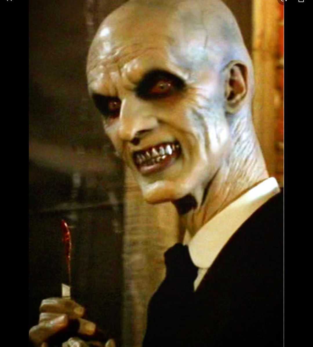 """#TBT Hard to believe it's been 20 years since I first showed up in the 1999 """"Hush"""" episode of Buffy The Vampire Slayer episode as the leader of """"The Gentlemen"""". Makeup by Optic Nerve and Todd Mackentosh. <br>http://pic.twitter.com/tFdDam9QOY"""