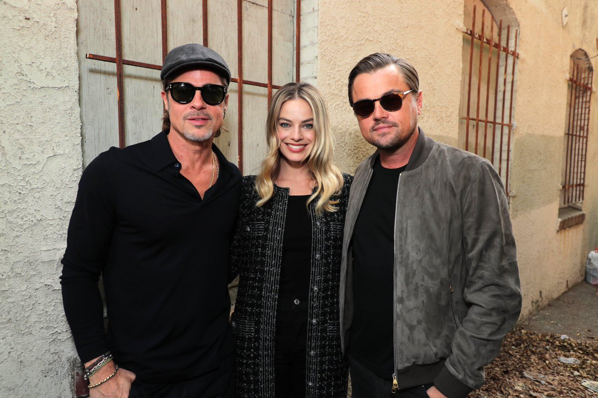 #TBT to last weekend's #OnceUponATimeInHollywood Panel with Leonardo DiCaprio, Brad Pitt, Margot Robbie, and Quentin Tarantino in Los Angeles. <br>http://pic.twitter.com/E5AuB2LXnd – à New Beverly Cinema
