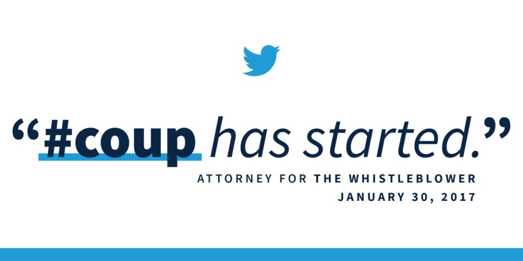 Before there was a whistleblower, there was the whistleblower's attorney—tweeting about overthrowing the government because he didn't like the election results.  You need to know about this: http://45.wh.gov/qPpLTE
