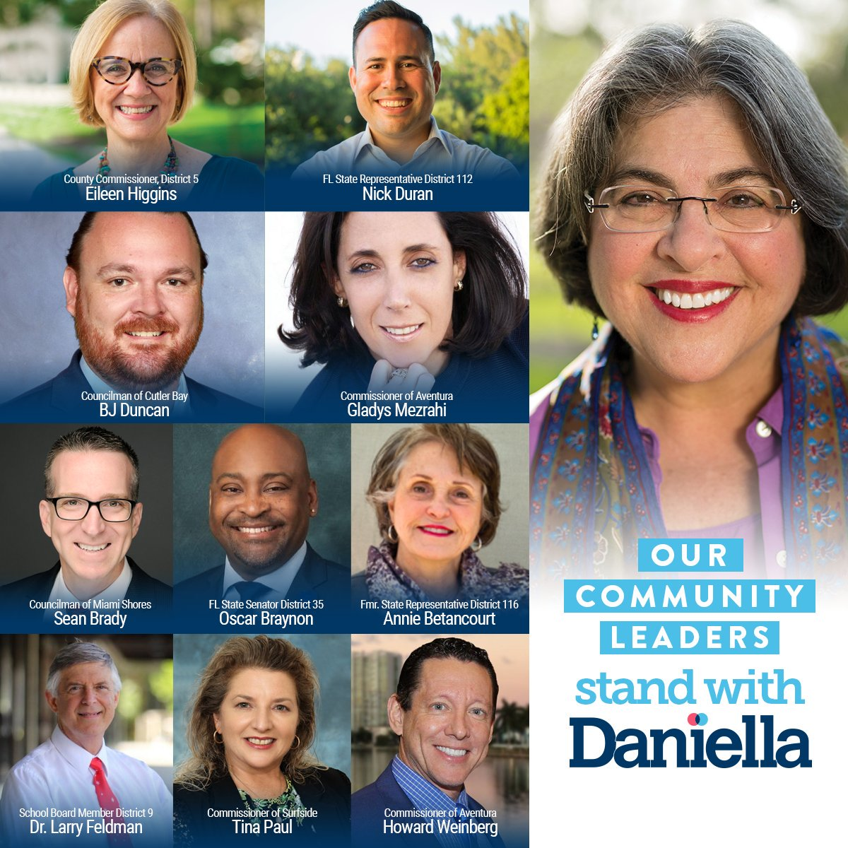 Humbled to have the trust & support of leaders in w/ a record of doing best by residents. That's what this campaign is about – restoring the promise that our local democracy will put its people's interests first & take bold actions that give everyone a fair shot. #WeMustDoBetter