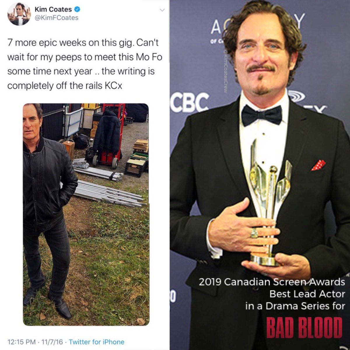 3 years ago today...@KimFCoates gave us the first ever peek at Declan Gardiner...  This #ThursdayThrowback is FULL of appreciation for EPIC  @BadBloodSeries Seasons 1 & 2 and Kim's BRILLIANT, 2019-Canadian-Screen-Award-for-Best-Lead-Actor-in-a-Drama-Series performance as Declan👏🏻