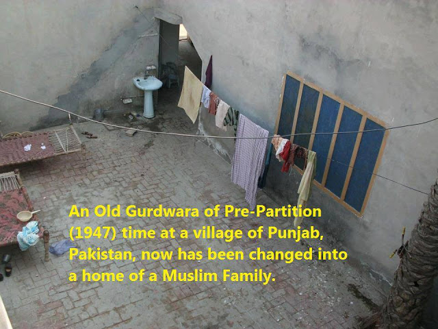Systematic Destruction of Gurudwaras of Pakistan: Gurudwara converted into a home by a Muslim Family