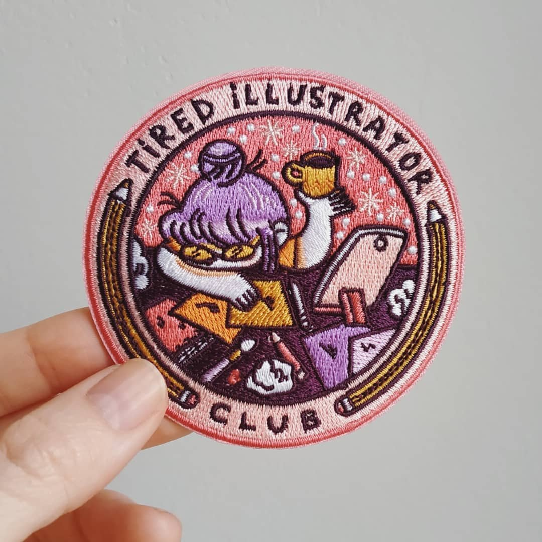 Excited (and tired)  I have no time for anything but these patches arrived today, them will be on sale as soon as possible + I must do the last 3 drawings for inktober + deadlines  #help<br>http://pic.twitter.com/C9CLBtaFCw