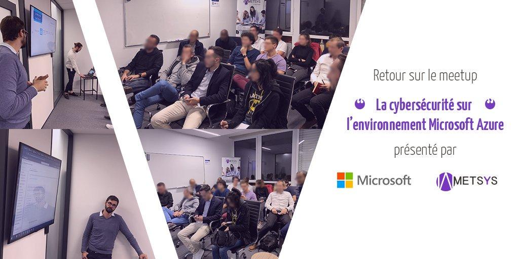 [MEETUP] – L'agence Metsys Sud-Ouest a organisé un meetup dans ses locaux sur la cybersécurité des environnements Azure.  L'occasion de découvrir au travers de retour d'expérience comment renforcer la sécurité des environnements Microsoft. #Metsys #Microsoft #Azure<br>http://pic.twitter.com/neHrISisNw
