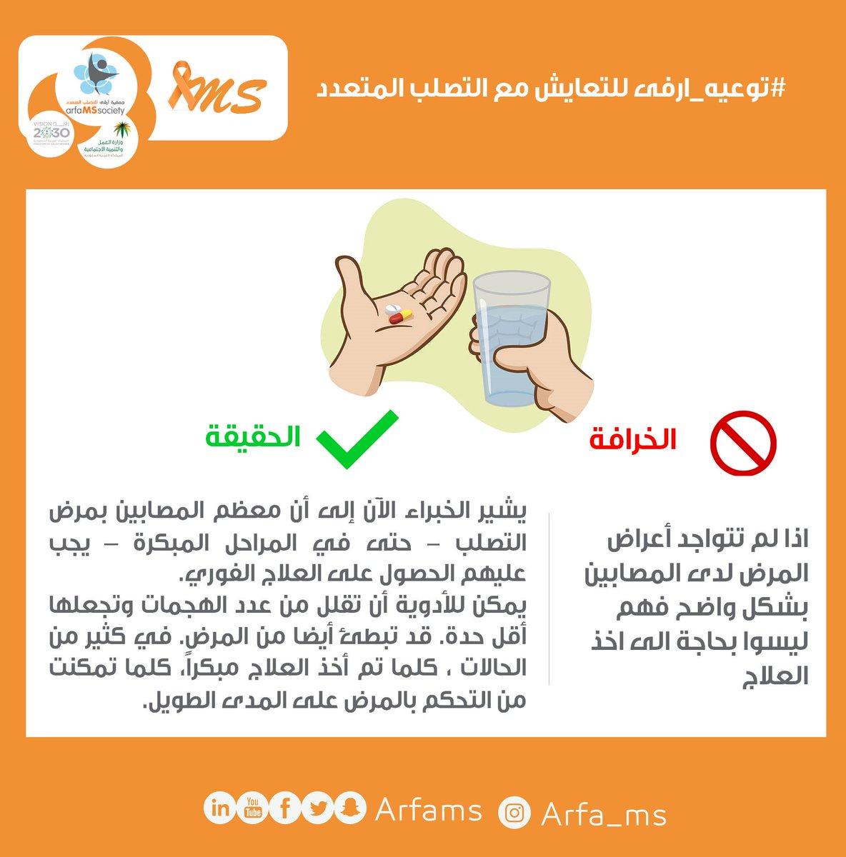#توعيه_ارفى  تساؤلات ...  هل يستطيع  مريض #التصلب_المتعدد ترك علاجه؟  #الخميس_الونيس #حسنتي__راحتي #عرعر_الآن  #معرض_الانمي_السعودي   @WorldMSDay @SaudiMOH @MLSD_SA @MSIntFederation https://t.co/GHot7qdBg0