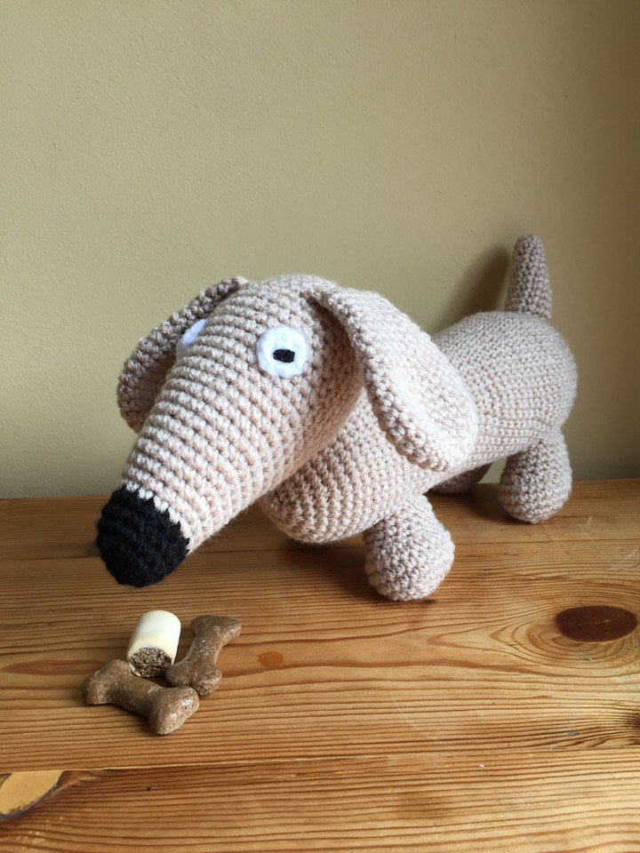 Crochet Cute Amigurumi Dachshund Dog Part 1 of 2 DIY Video ... | 960x720