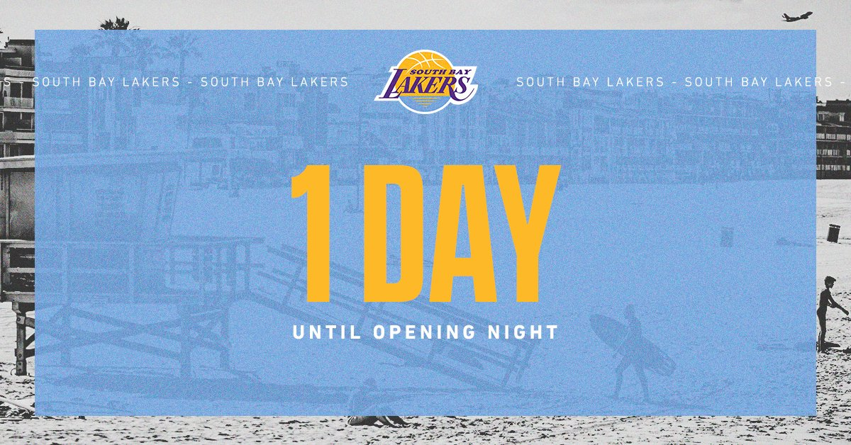 Just 1 day until we represent the South Bay. #SBLakers