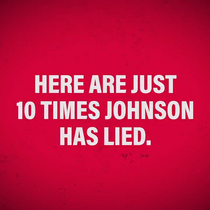 Boris Johnson tells disgraceful lies. Here are just ten of them. Youre going to watch this one until the end. #CantTrustTheTories