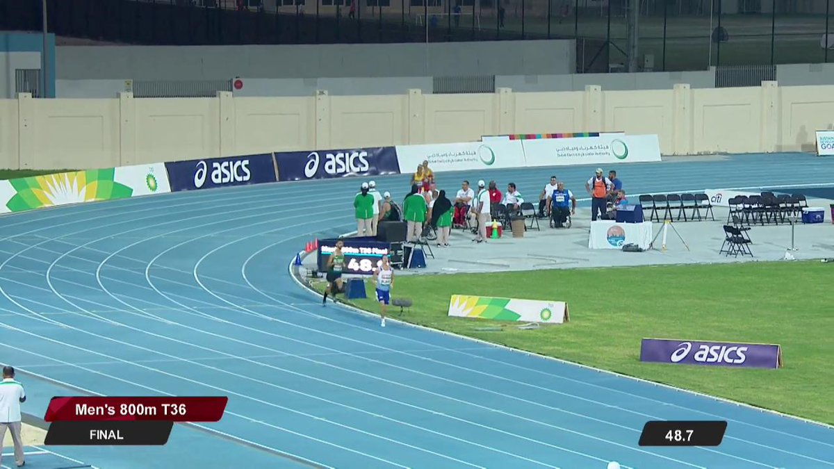 GREAT BRITISH BLAKE OFF TO GOLD 🥇 @BritAthletics top the podium for the first time at #Dubai2019 - it doesnt get more convincing than this from @wizards_1 🙌🇬🇧