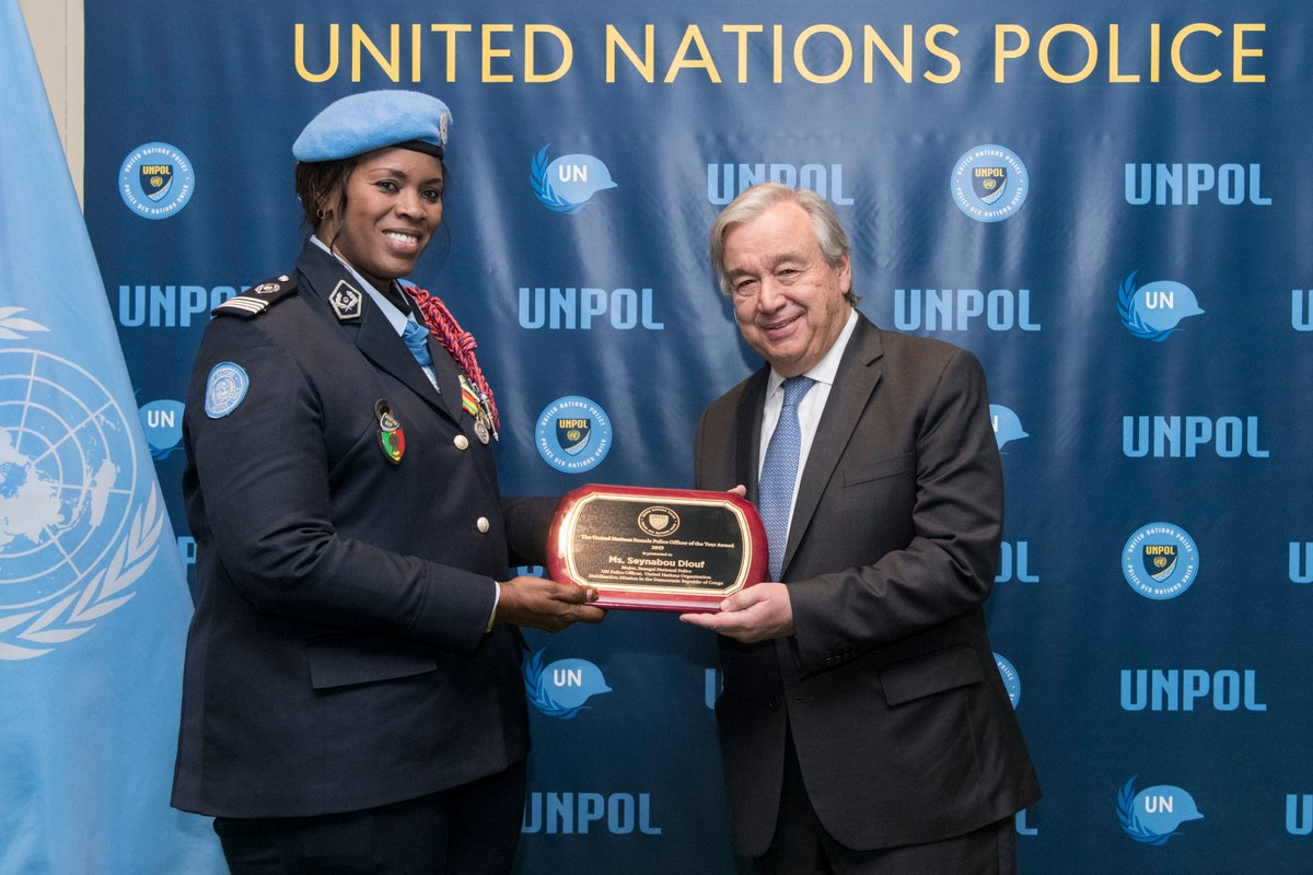 Image result for Senegalese Major Seynabou Diouf awarded 2019 UN Female Police Officer of the Year