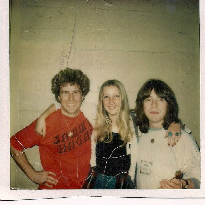 #TBT Here is me, my niece, and Rick Derringer in 1977. <br>http://pic.twitter.com/T5uMjXKlhg