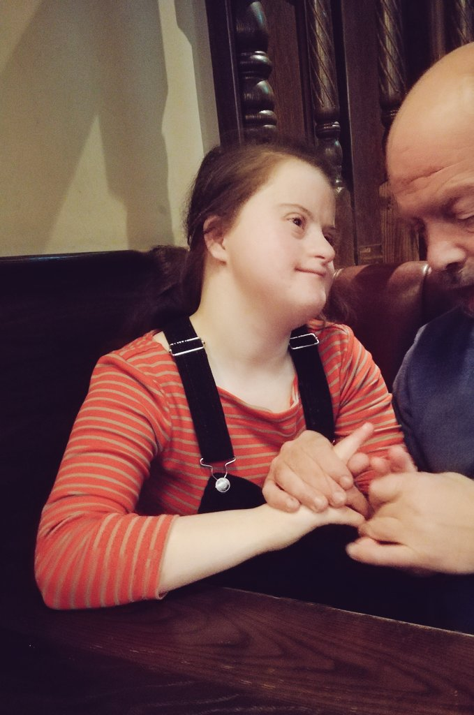 @SteveRoberts_ Heres Isabel. I filled her universal credit form in cos shes non verbal with severe learning disabilities, Downs & autism. The DWP chap said he needed to speak to her! I sorted that, then got another call 2 mnth later asking if there were any changes to report...😑