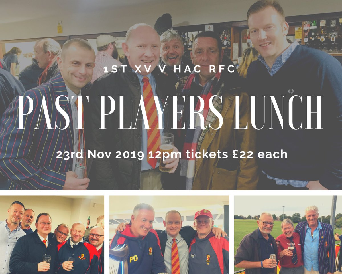 We're hosting our annual Past Players Lunch on 23rd November. Let us know if you'd like a ticket.