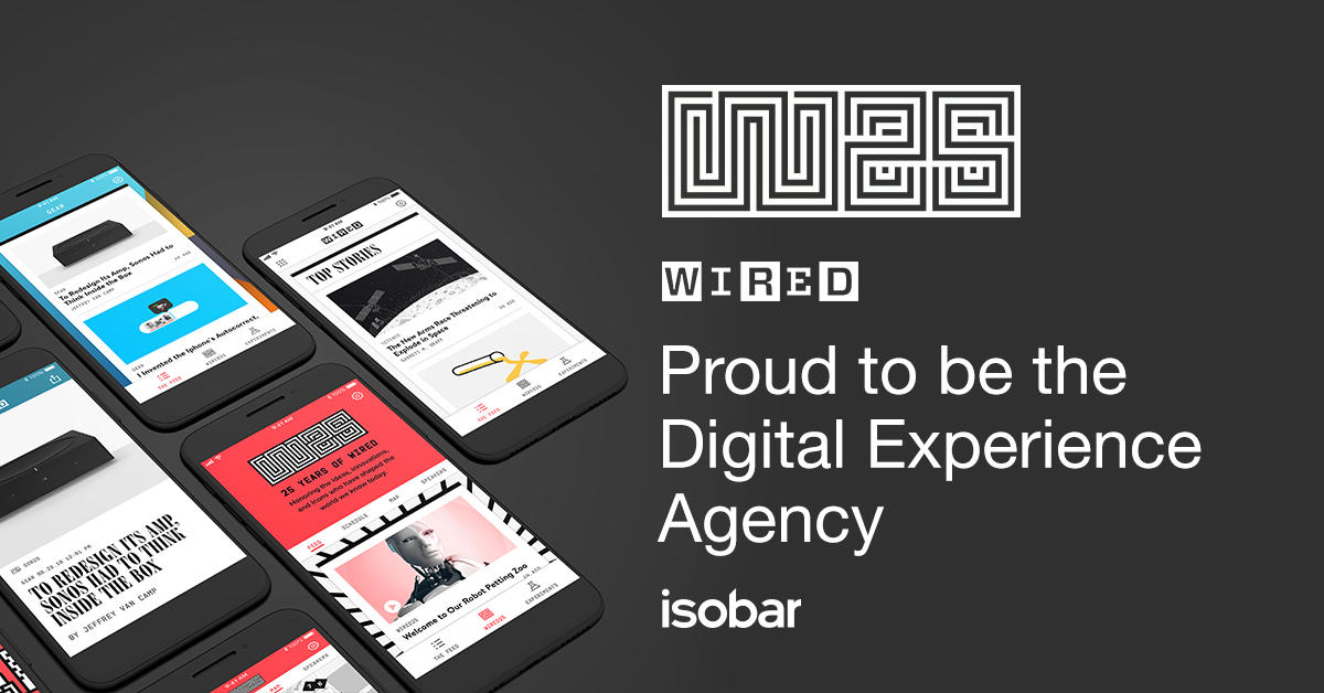 We are proud to be Digital Experience Agency for #WIRED25 for the second year in a row - get the latest news on the event here https://fal.cn/34XLp  @IsobarUS.