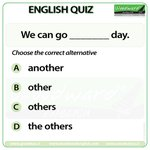 Image for the Tweet beginning: Woodward English Quiz 11  We can