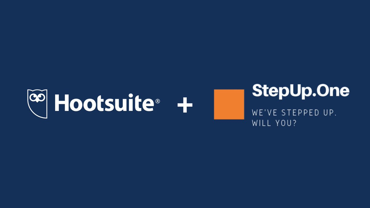 We are thrilled to announce that we are joining the pilot program with @Step_up_One an organization that is using social media and Hootsuite Academy to re-skill refugees in mature @unhcr camps and connect them to job opportunities: stepup.one #SocialForGood