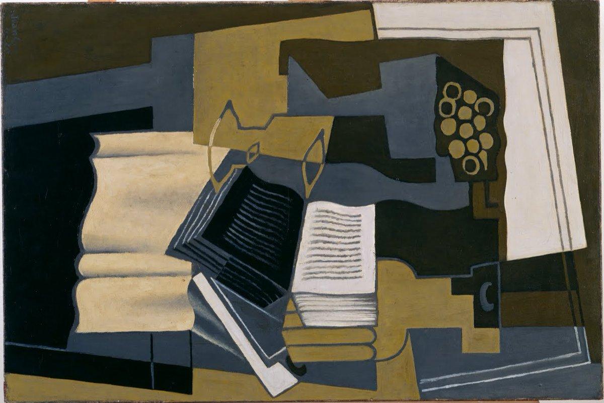 Carafe and Book, 1920 #spanishart #juangris <br>http://pic.twitter.com/KPspmdlKVR