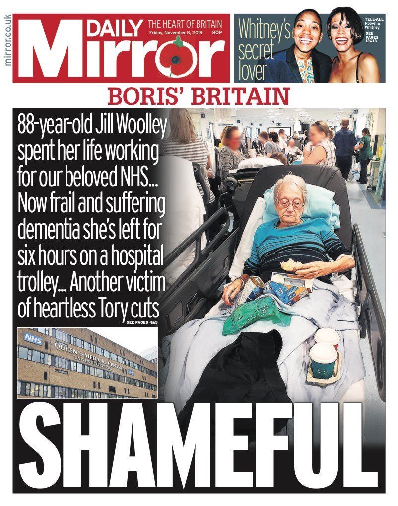 Shameful. Utterly shameful. The photo that confirms the consequences of a Tory decade of health & social care cuts. The photo that defines this election campaign. This election is about Jill & every patient waiting on a trolley We need a Labour government to save our NHS.