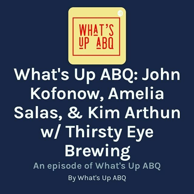 Check out the latest What's Up ABQ podcast episode with Thirty Eye Brewing Co!  We had such a nice time with hosts Lindsey and Ryan. They're doing great work with this show. https://t.co/GmlTsv5e3w @abqwhatsup @thirstyeyebrew #nmbeer #abqbeer https://t.co/OdXkrgp5Wl