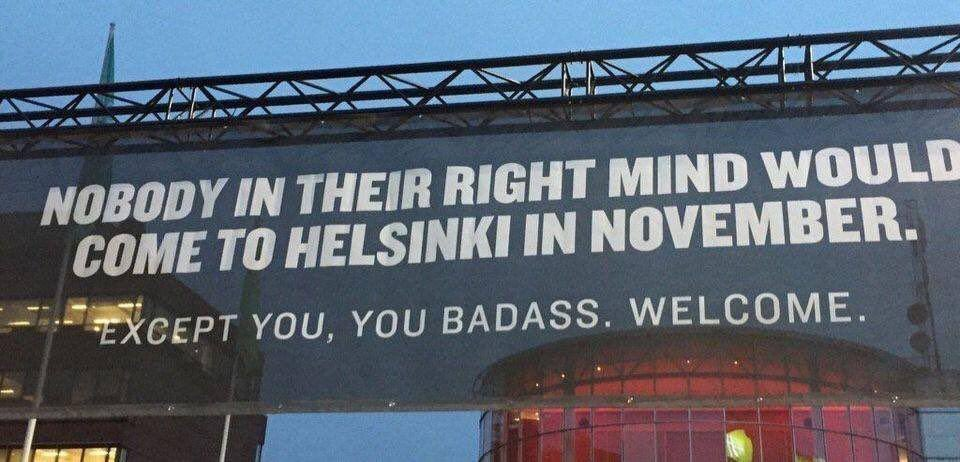 Someone at the Helsinki Tourist board is responsible for this marketing masterpiece..