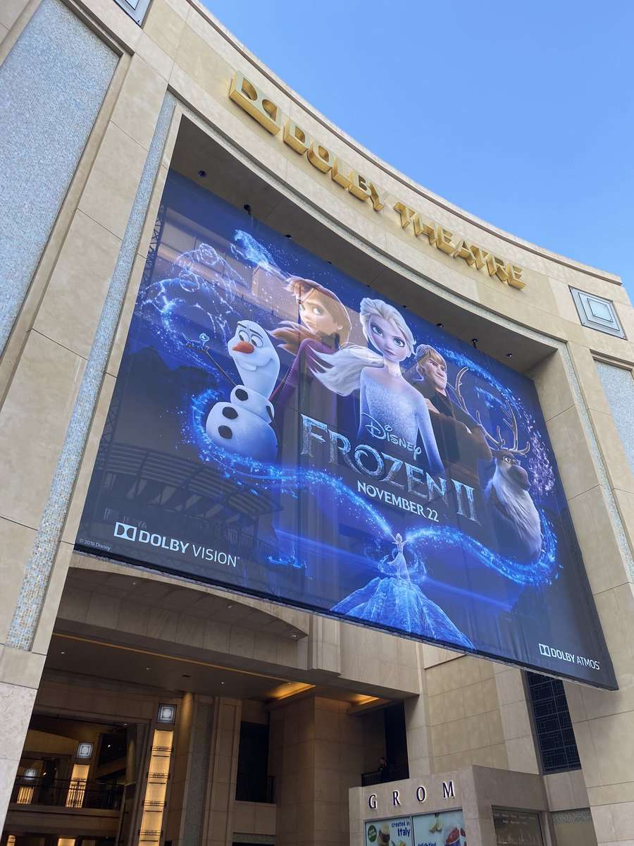 We're getting ready to let it go, let it gooooo for the second time at the @DisneyFrozen II premiere at the Dolby Theatre! Reply with questions you want us to ask the cast! #Frozen2